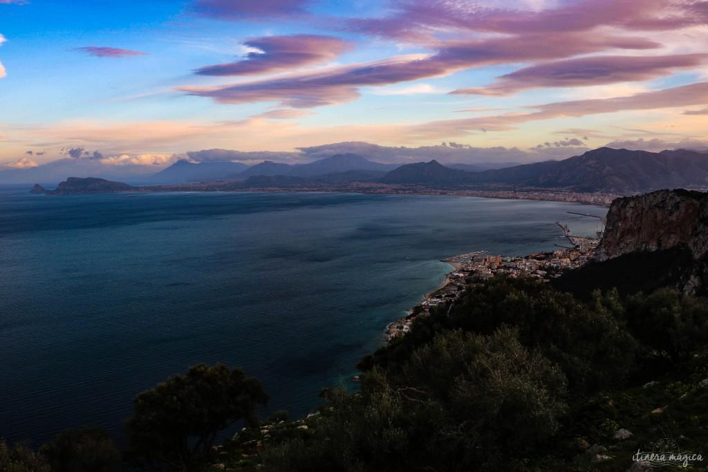 Sonnenuntergang am Golf von Palermo