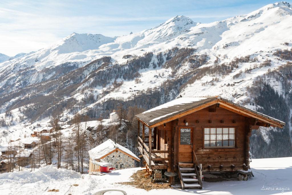 val d'herens suisse en hiver evolene