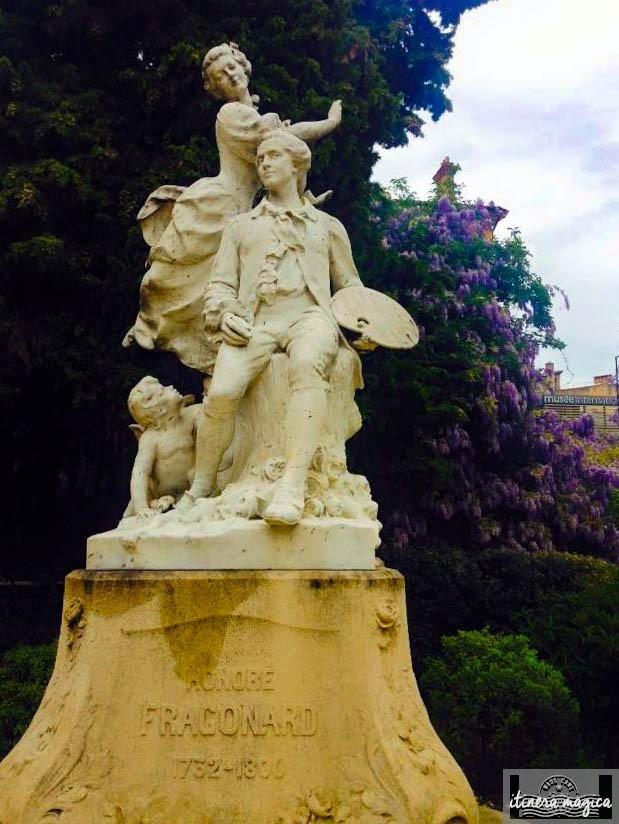 Hommage à Fragonard, l'enfant terrible et chéri de Grasse.