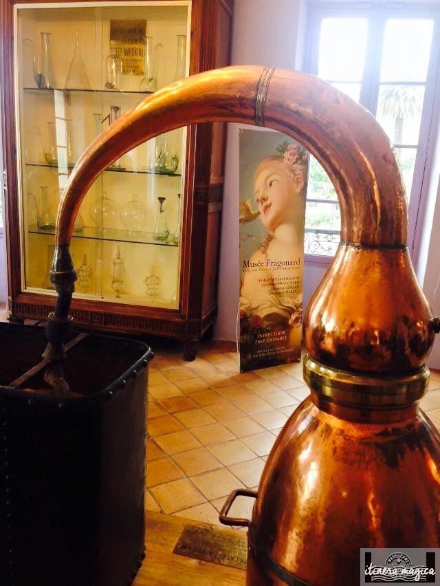 Alambics au musée du parfum.