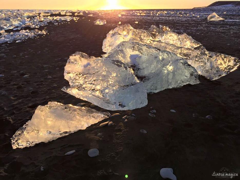 glacier islande hiver jökulsarlon