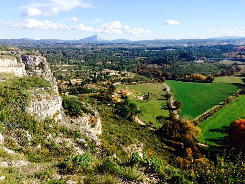 Die Sicht auf das Tal.