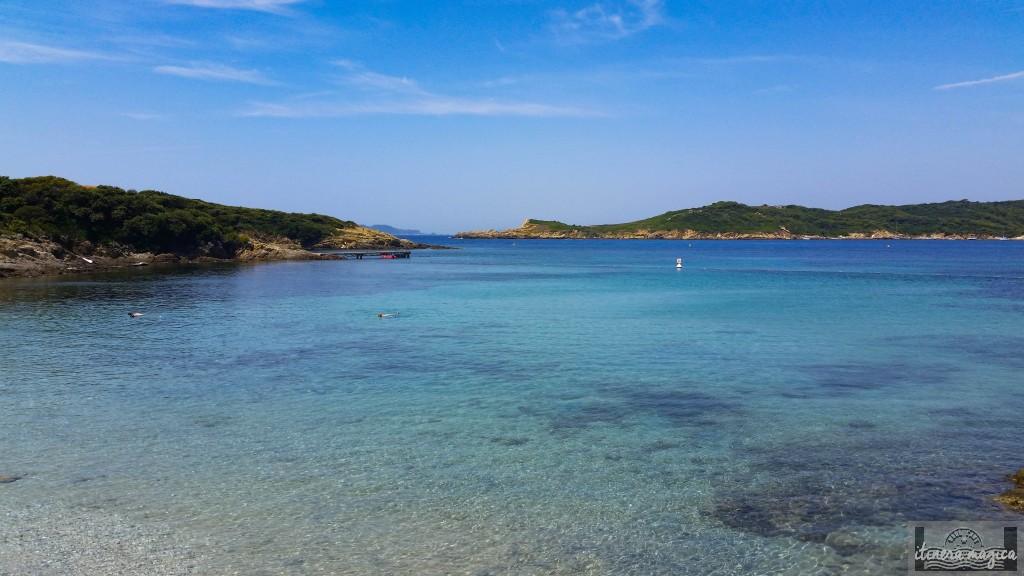 Port-Cros, côte d'azur, plage