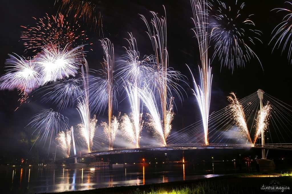 Feuerwerk im Garten. Quelle für das Bild: Tourisme Alsace.