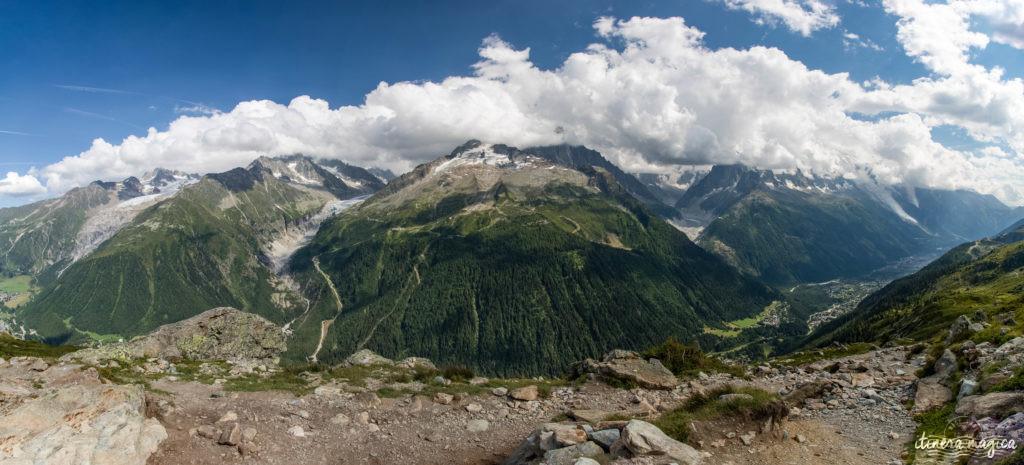 Glaciers de Chamonix panorama
