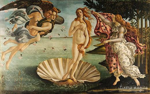 Le tableau le plus célèbre de la galerie des Offices, la Naissance de Vénus, par Sandro Botticelli.