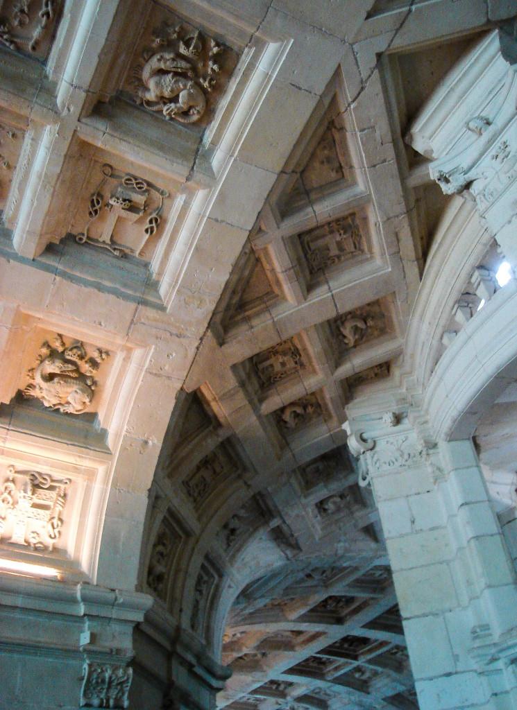 Salamandres aux murs et plafonds de Chambord.
