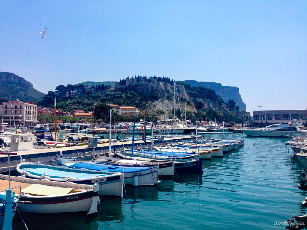 Cassis' harbor (and castle in the background).