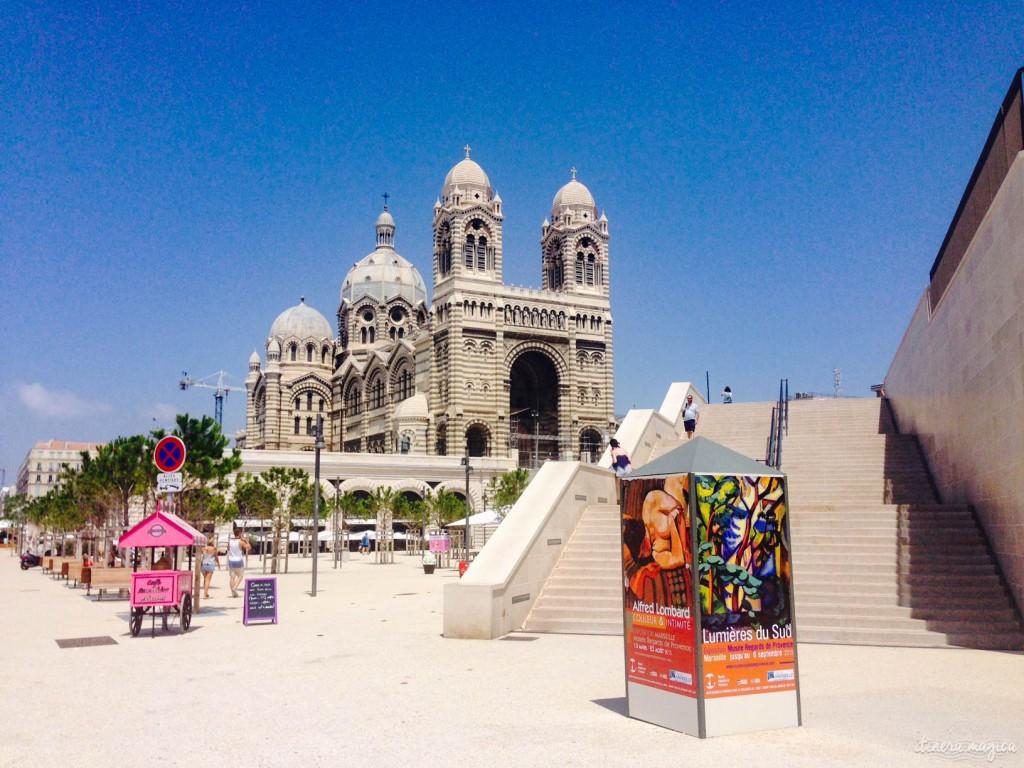 Marseille, MUCEM, Major, cathédrale, musée, esplanade, vieux port