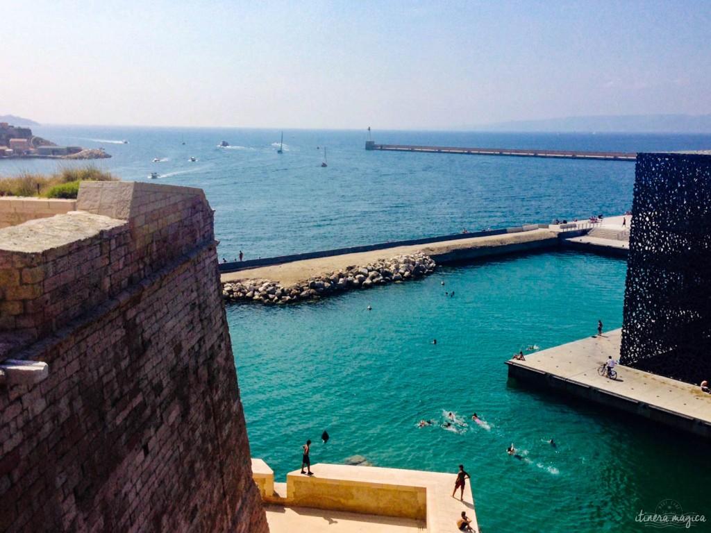Marseille, MUCEM, vieux port, fort Saint Jean, mer, Méditerranée