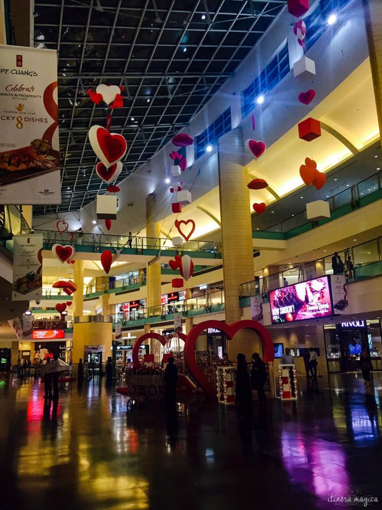 Saint Valentin à l'Abu Dhabi Mall.