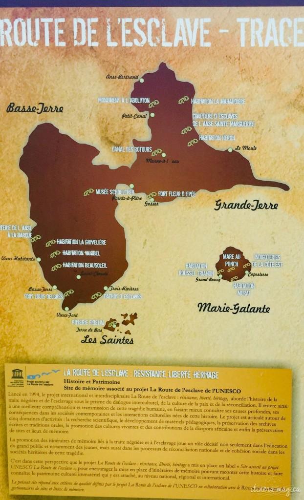 Route de l'esclave, à travers la Guadeloupe. mémoire guadeloupe