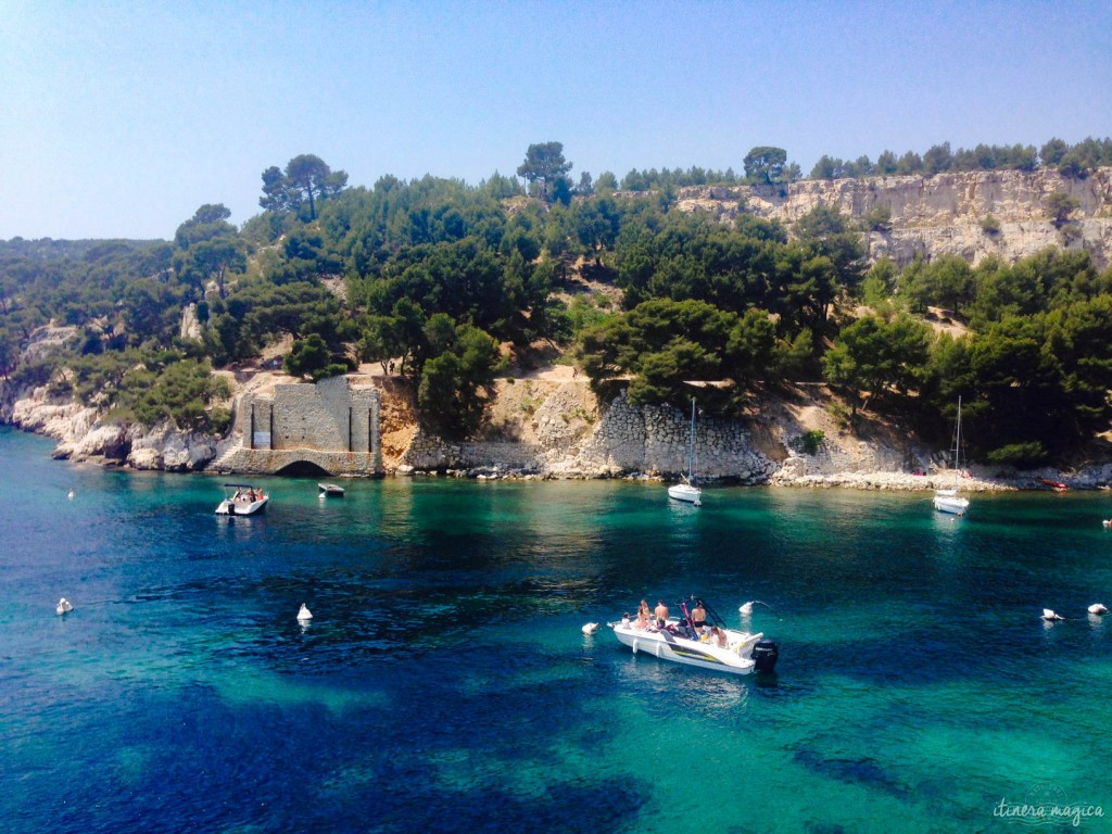 "Port-Miou, one of the many ""calanques"" in Cassis."