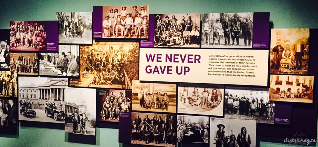 Photo prise au musée des Indiens d'Amérique, Smithsonian, Washington DC.