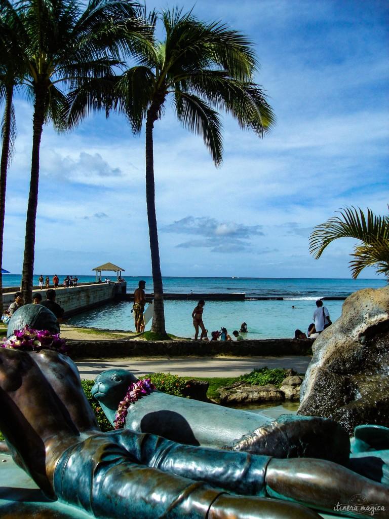 Idyllic visions of Waikiki, Honolulu.