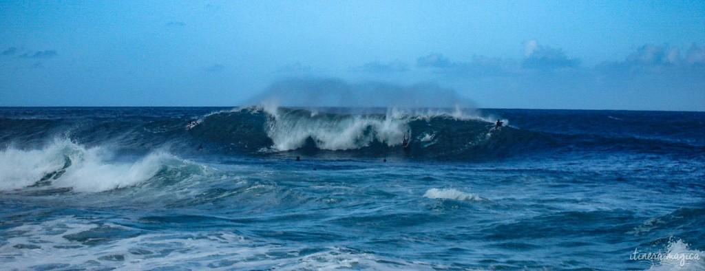 Surfers on Oahu's Northshore.