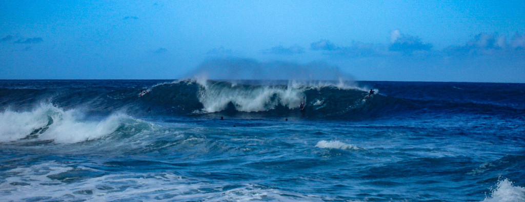 Surf sur le Northshore d'Oahu.