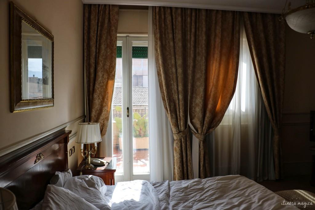 Unser wunderschönes Zimmer im Grand Hotel et des Palmes, Palermo