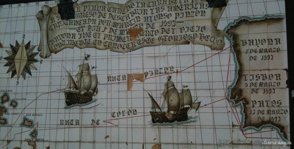 The Pinta's voyage in 1492-1493.