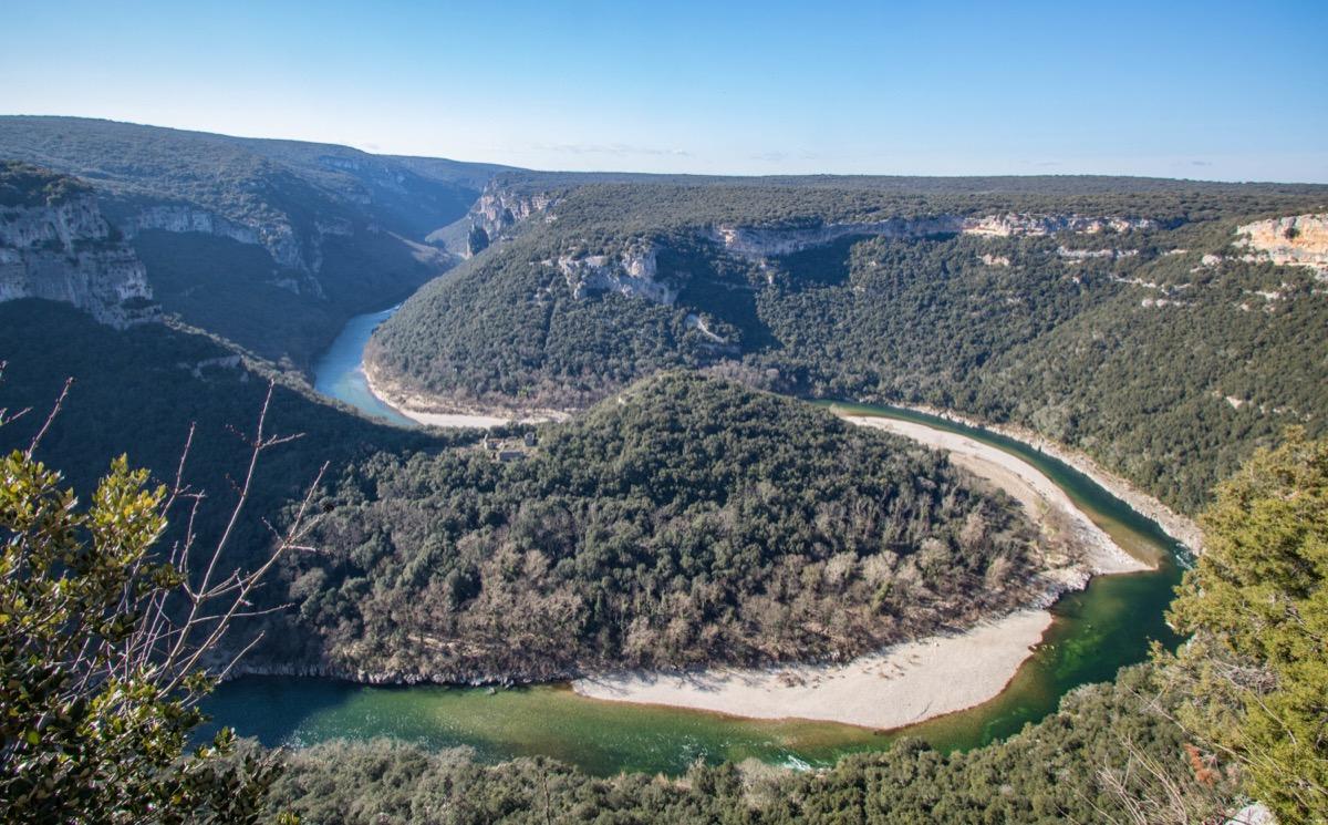 Maladrerie des templiers dans les gorges de l'Ardèche