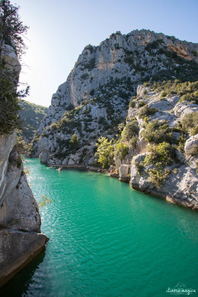 Itinéraires dans les gorges du Verdon : les basses gorges à Quinson