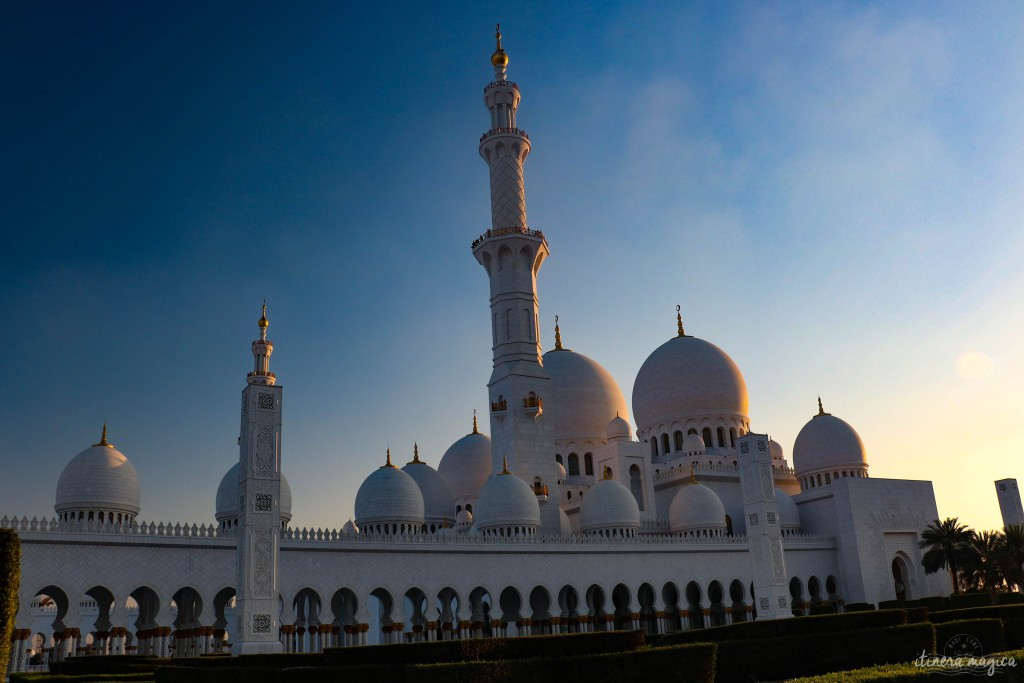 Jardins de la mosquée, le soir.