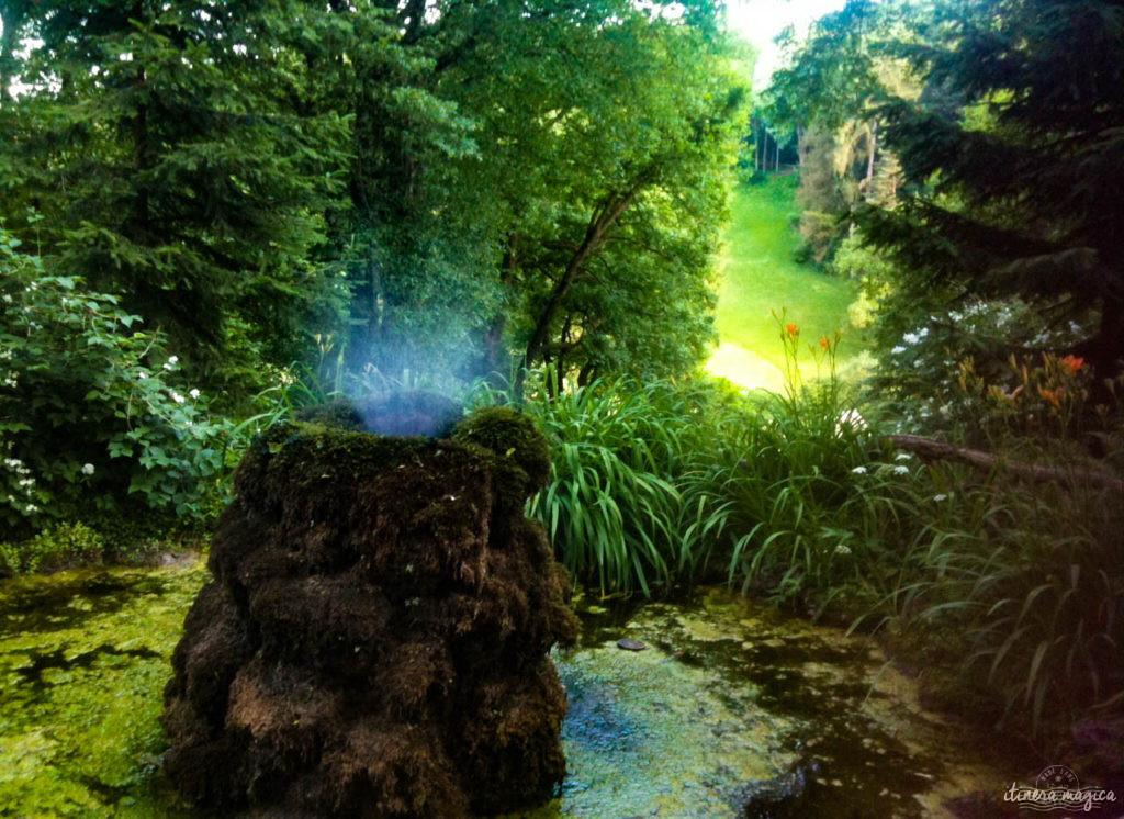 Fontaine dans l'un des parcs de Weimar
