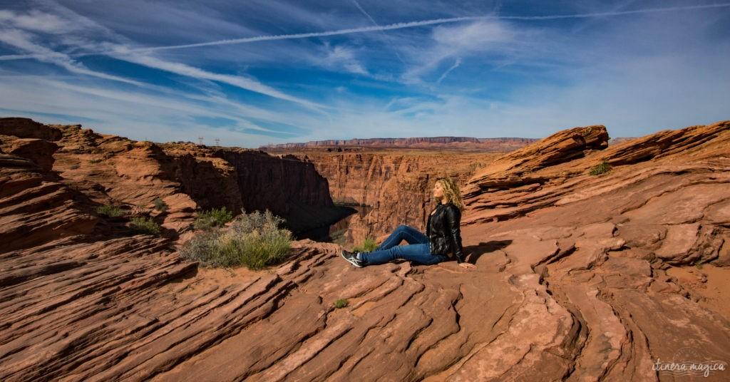 Horseshoe Bend, le plus beau méandre du Colorado, et les rives du Lac Powell regorgent de merveilles géologiques. Le road trip continue à Page, Arizona. Itinera Magica, Ariane Fornia
