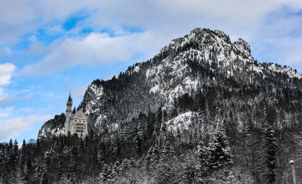 Neuschwanstein sous la neige.
