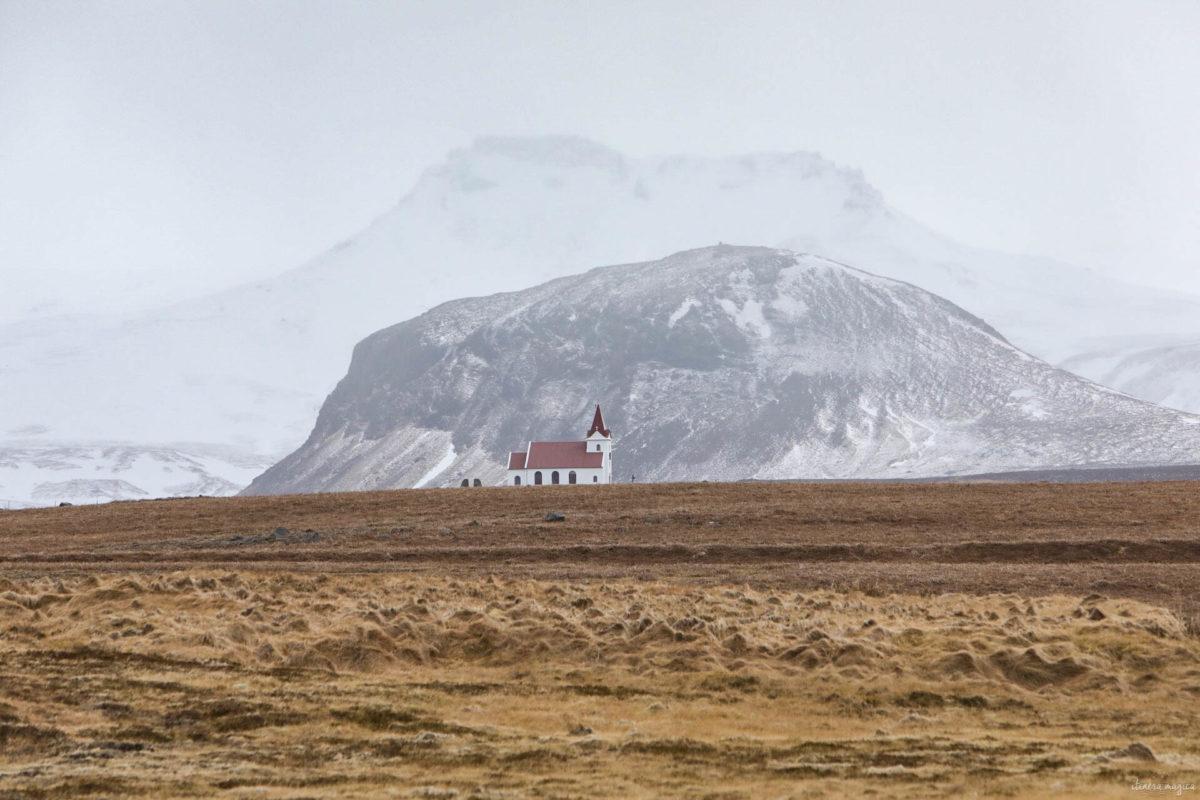 snaefellsnes islande de l'ouest en hiver