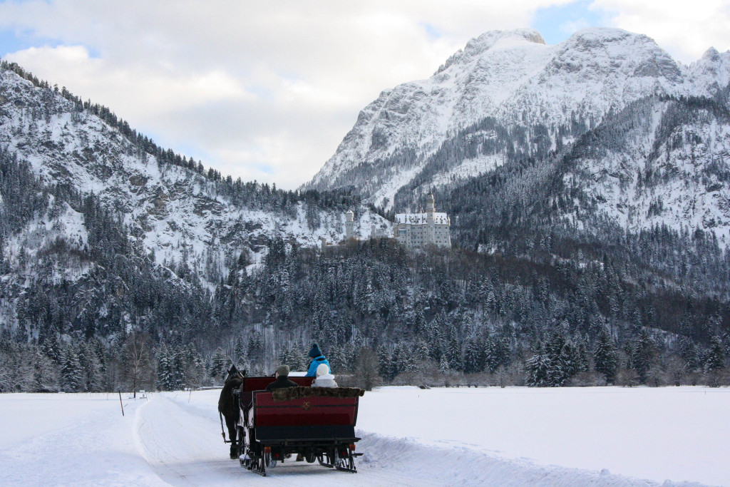 bavière hiver calèche neuschwanstein