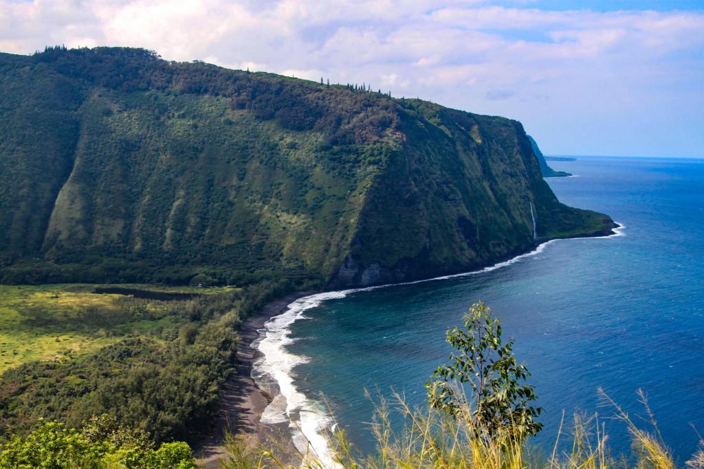 """Waipio, la """"vallée des rois"""", sur la grande île, haut lieu de l'histoire politique de l'archipel."""