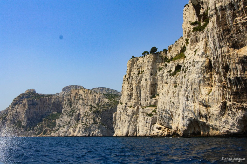 Cassis' calanques as seen from the sea.