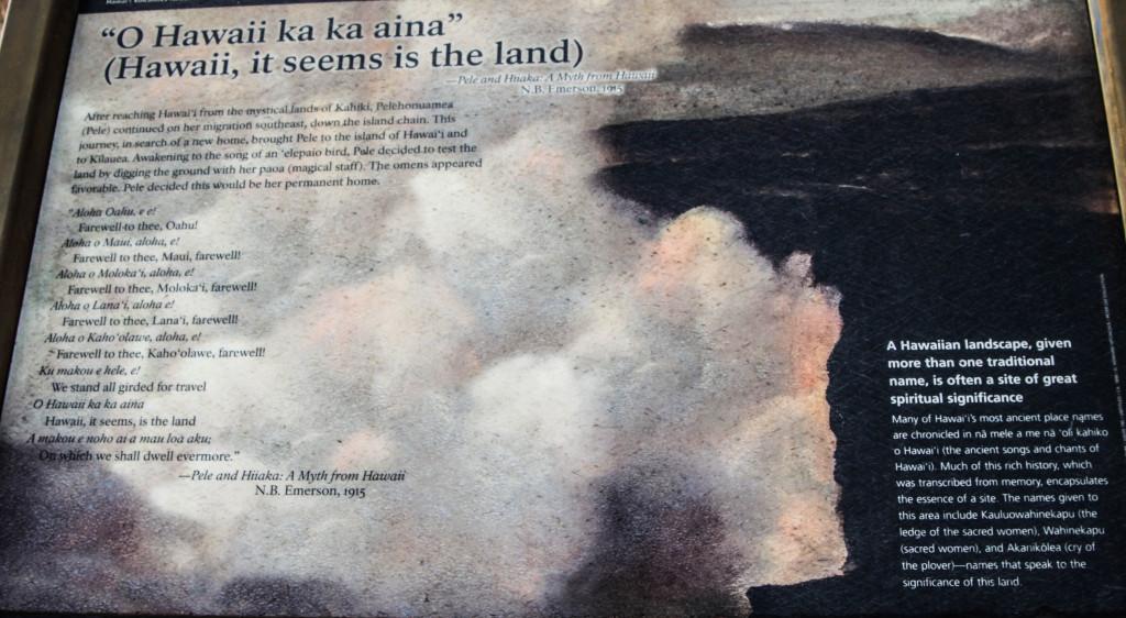 Le récit de l'arrivée de Pele sur la grande île.