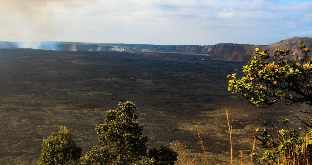 La caldeira du Kilauea. Volcans d'Hawaï