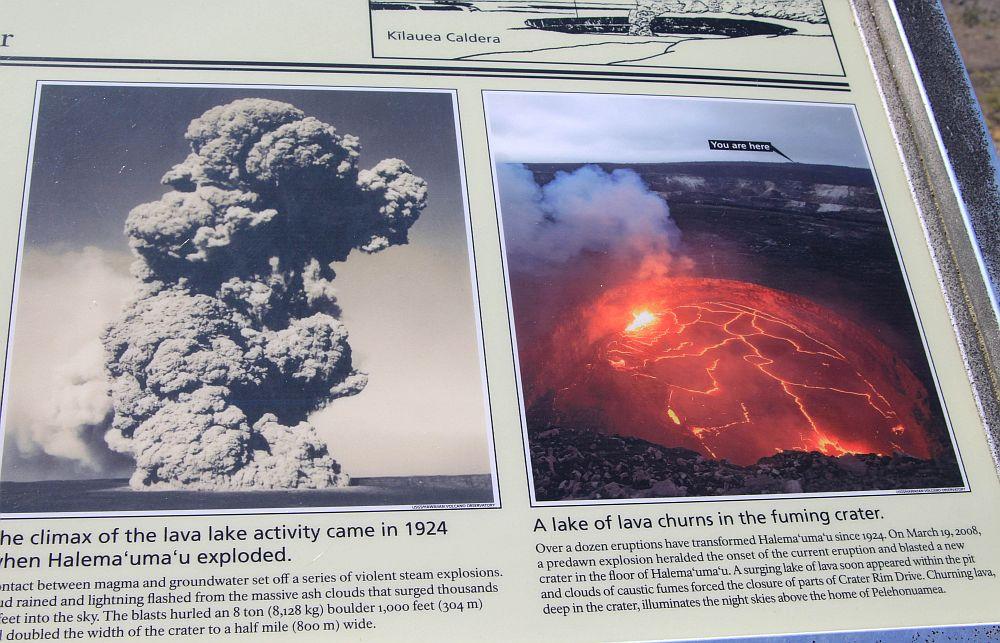 Quand le lac de lave était encore brûlant.
