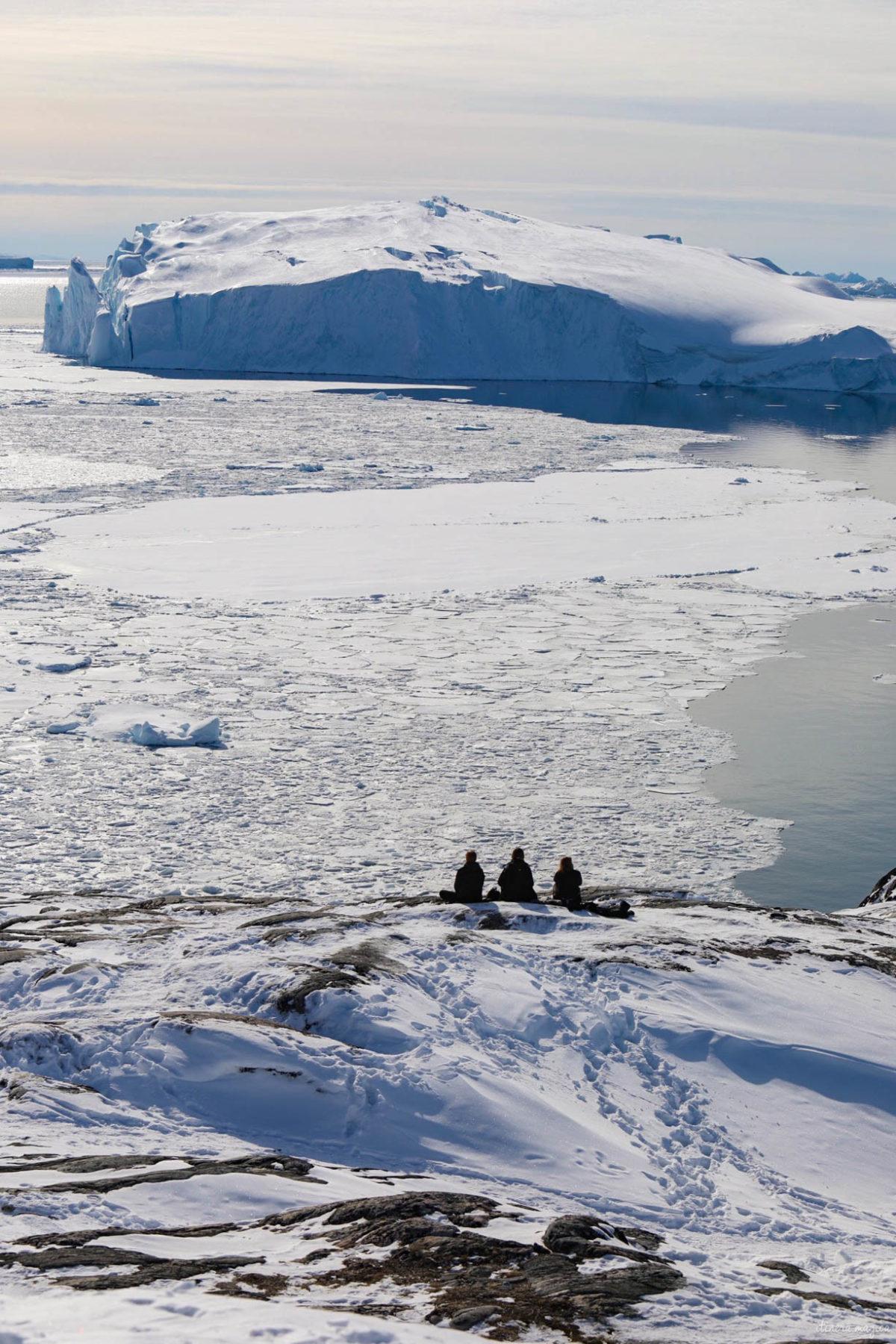 Voyage à Ilulissat et ses icebergs géants. Un incontournable lors d'un voyage au Groenland. De Paris à Ilulissat, un dépaysement total. Hôtel Ilulissat. Blog Ilulissat. Voyage Ilulissat icebergs Ilulissat