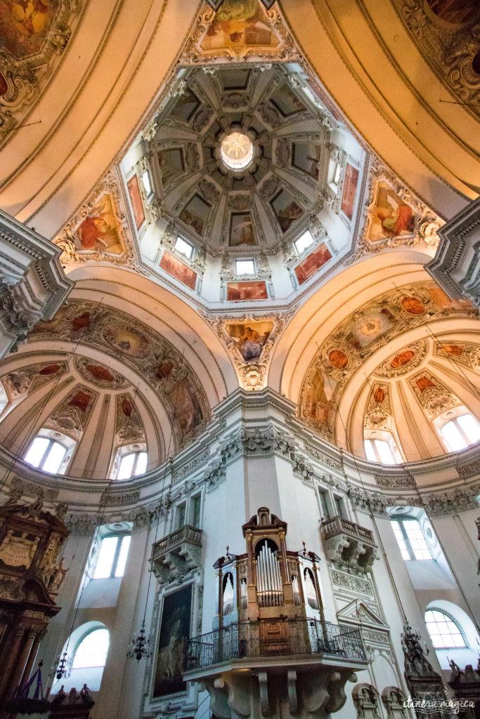 Salzbourg, cathédrale. Itinéraire romantique en Autriche : un voyage de rêve entre Salzbourg, Innsbruck, le château Hohenwerfen, les cascades de Krimml et un hôtel spa romantique.