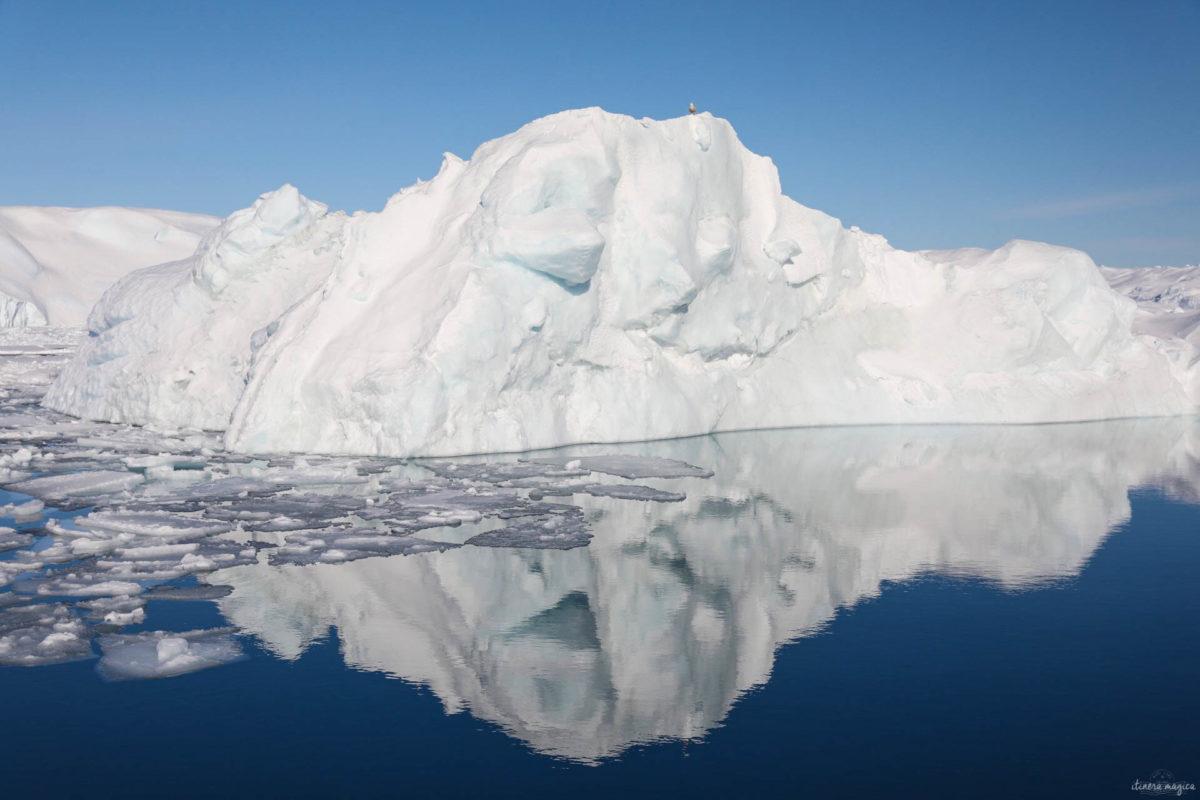 Voyage à Ilulissat et ses icebergs géants. Un incontournable lors d'un voyage au Groenland. De Paris à Ilulissat, un dépaysement total. Hôtel Ilulissat. Blog Ilulissat. Voyage Ilulissat