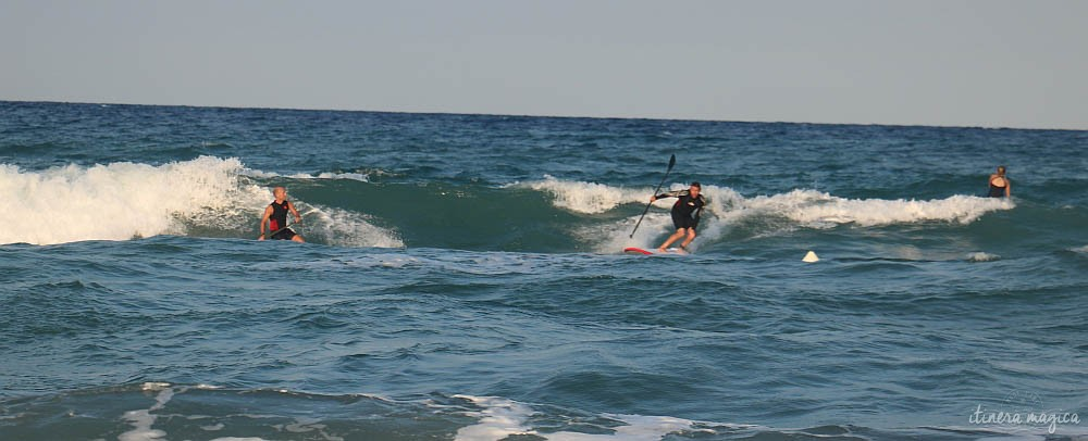 SUP action on Narvelle's beach.