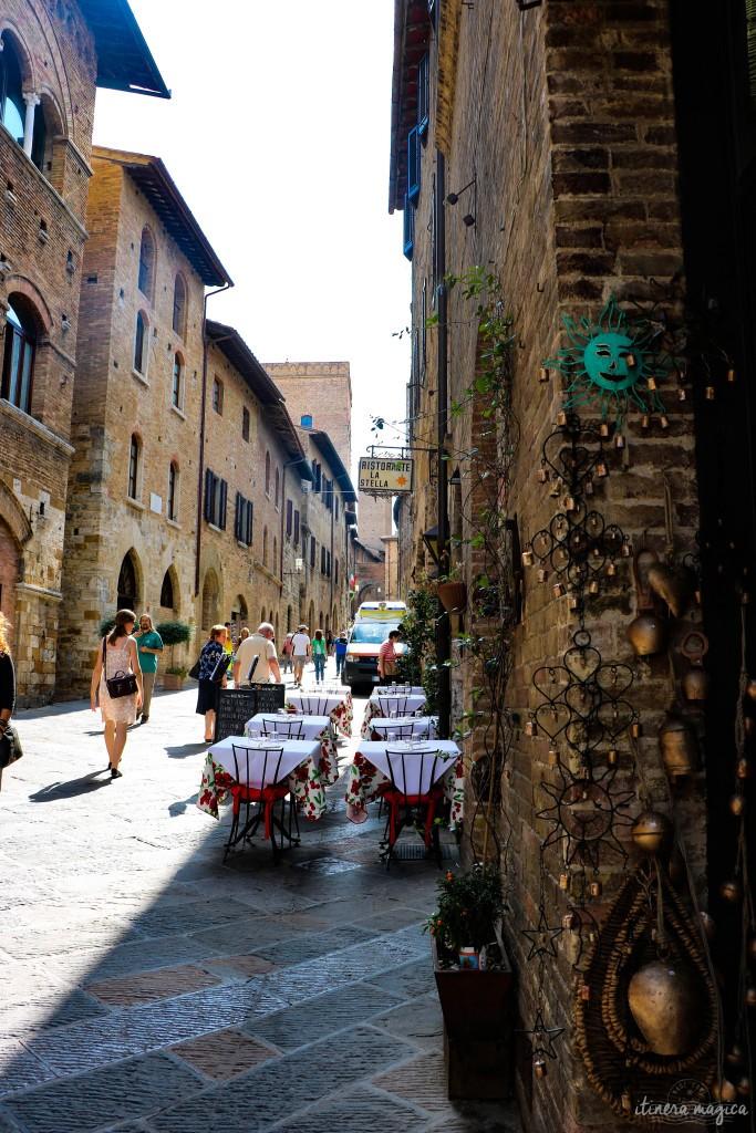 Ruelles de San Gimignano.