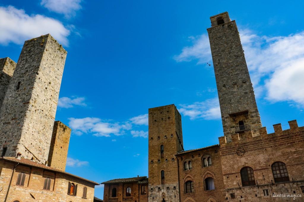 Trois des tours de San Gimignano.