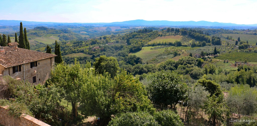 Panorama toscan depuis San Gimignano.
