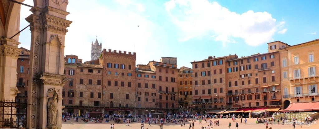 Piazza del Campo de Sienne.