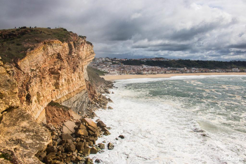 Les plus grosses vagues du monde à Nazaré. Vagues géantes Portugal. Comment voir les vagues de 30 mètres à Nazaré. Blog Nazaré surf de grosses vagues.