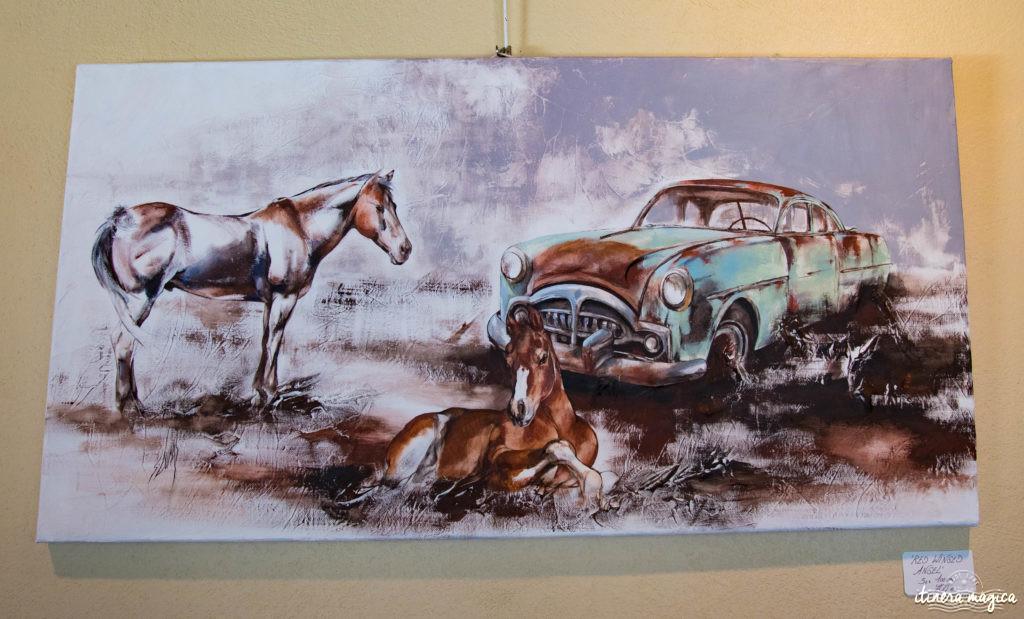 Sophie Dumas, artiste de Camargue. Peintre chevaux, taureaux, Camargue