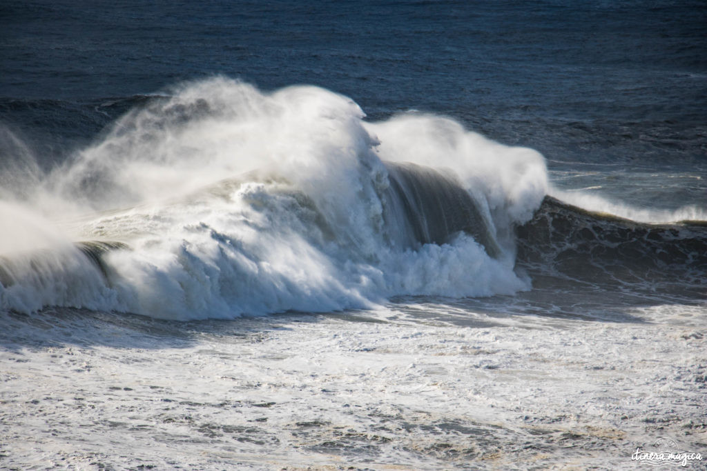 See the biggest waves in the world in Nazaré, Portugal. Mind-blowing big wave surf on monsters reaching 100 feet.