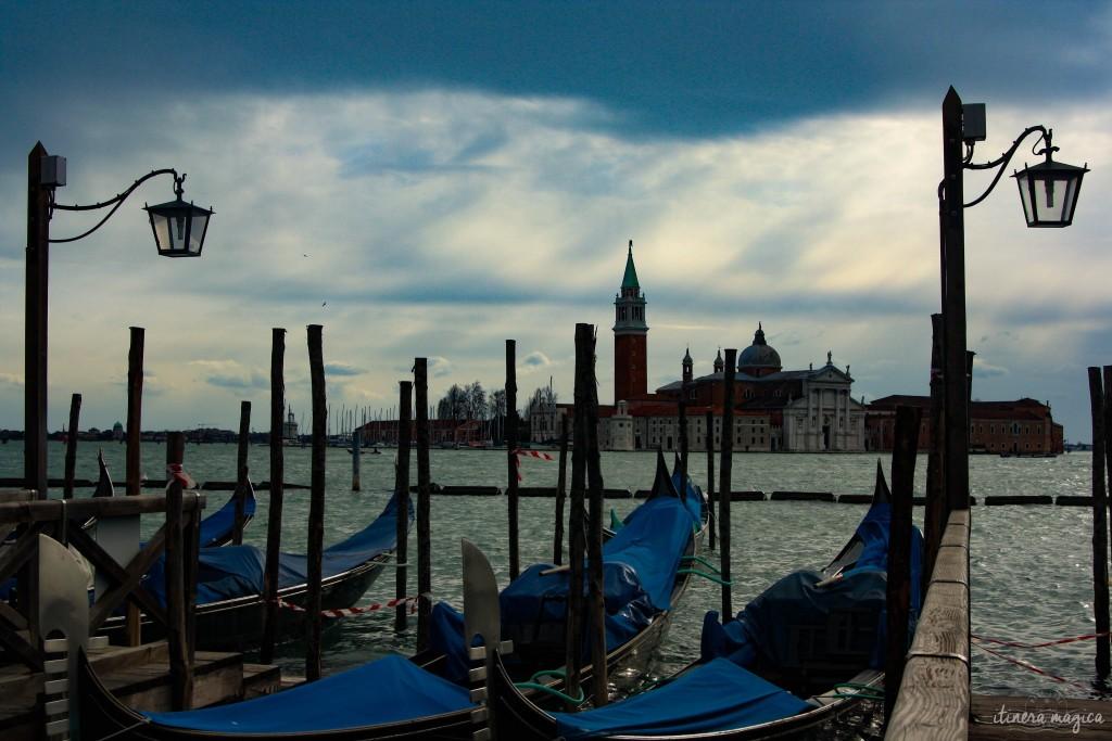 Gondolas in Venice.