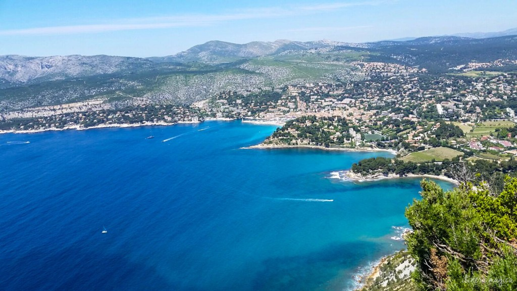 The town as seen from the Ridge Road which goes from Cassis to La Ciotat.