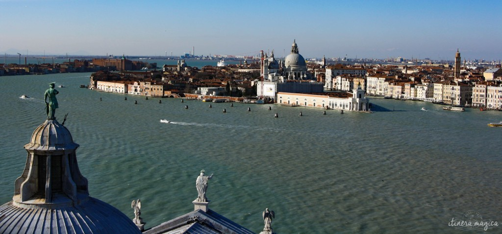 Venice as seen from the top of San Giorgio Maggiore's bell tower.